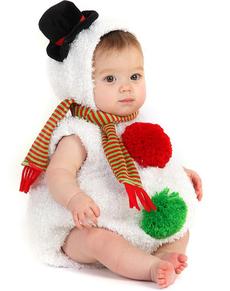 Disfraz de Muñequito de Nieve Bebé