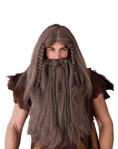 Set peluca y barba de vikingo