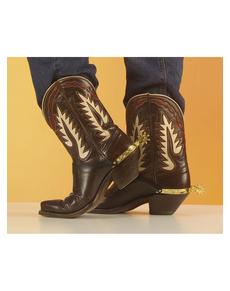 Espuelas doradas de vaquero para zapatos