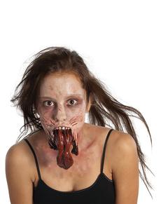 Prótesis de barbilla zombie The Walking Dead