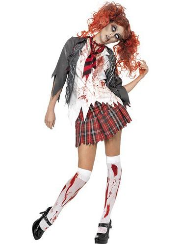 Disfraz de universitaria zombie