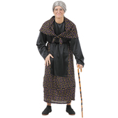 Disfraz de vieja pueblo hombre