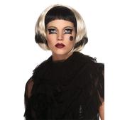 Peluca negra y rubia Lady Gaga