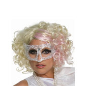 Peluca rizada rubia de Lady Gaga