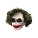 Máscara 3/4 de vinilo Joker con peluca para niño