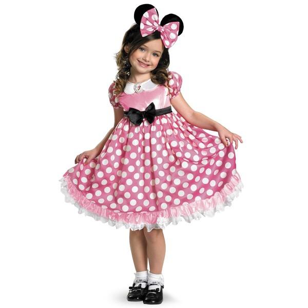 Disfraz de Minnie Mouse Clubhouse Rosa brillante para niña