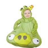 Fato de Angry Birds King Pig saquinho para bebé