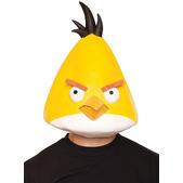 Máscara de Angry Birds Amarelo de látex Adulto