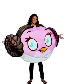 Disfraz de Angry Birds Princesa Leia Adulto