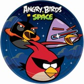 Conjunto de pratos Angry Birds Space