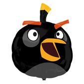 Balão Angry Birds Preto