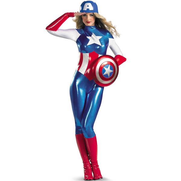 Puertas estelares repartidas por todo el universo. Disfraz-de-capitan-america-segunda-piel-para-mujer