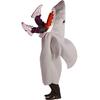 Déguisement de requin dévorant un homme