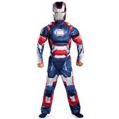 Disfraz de Iron Patriot Iron Man 3 musculoso para niño