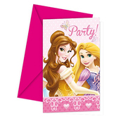 Set de invitaciones Disney Princesas Luxury