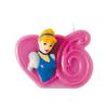 Vela número 6 Cenicienta Disney Princesas