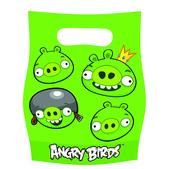 Conjunto de sacos para guloseimas ou brinquedos Angry Birds