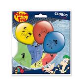 Set de globos Phineas y Ferb