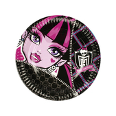 Set de platos grandes Monster High
