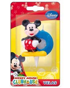 Vela número 0 Mickey Mouse
