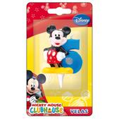 Vela número 6 Mickey Mouse