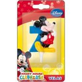 Vela número 7 Mickey Mouse