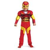 Disfraz de Iron Man musculoso para niño
