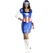 Disfraz de Capitán América para chica