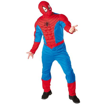 costume de spiderman muscle pour adulte acheter en ligne sur funidelia. Black Bedroom Furniture Sets. Home Design Ideas