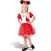 Disfraz de Minnie Mouse rojo Deluxe para niña