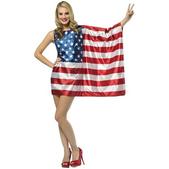 costume du drapeau des États-Unis pour femme