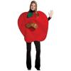 Disfraz de manzana con gusano