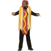 Disfraz de perrito caliente zombie infantil