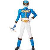 Disfraz de Power Ranger Megaforce Azul musculoso para niño