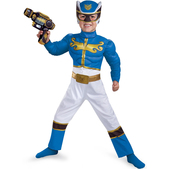 Disfraz de Power Ranger Megaforce Azul Classic para niño