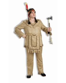 Disfraz de indio americano talla grande