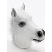 Masque de cheval fou blanc