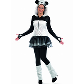 Disfraz de oso panda tutú para mujer