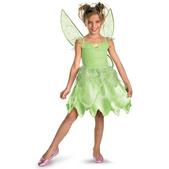 Disfraz de Campanilla verde para niña