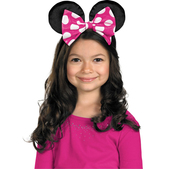 Diadema Minnie Mouse lazo rosa