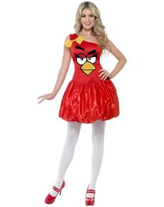Disfraz de Angry Birds Rojo glamuroso para mujer