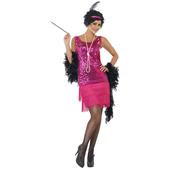 Disfraz de charlestón rosa para mujer