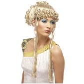 Perruque de déesse grecque de luxe