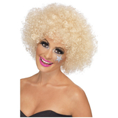 Peluca funky afro rubia