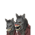 Masque Halloween Loup Garou articulé haut de gamme