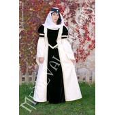 Vestido medieval Blanca: terciopelo y brocado