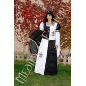 Mittelalter Kleid Blanca: viergeteilt