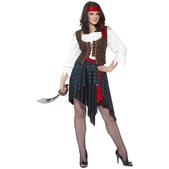 Disfraz de mujer pirata clásica