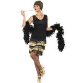 Disfraz de joven a la moda de los años 20 con flecos