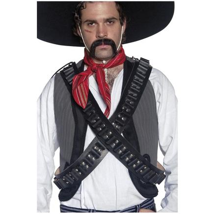 Cinturón de cuero de balas de bandolero del Oeste